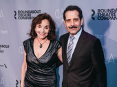 Theater couple Brooke Adams and Tony Shalhoub spend date night at the Roundabout Gala.