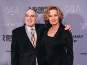 Roundabout Theatre Company Artistic Director and CEO Todd Haimes congratulates the evening's honoree Jessica Lange.
