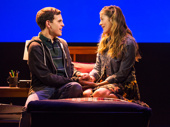Taylor Trensch as Evan and Laura Dreyfuss as Zoe in Dear Evan Hansen.