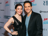 Theater couple Jessica Hershberg and Santino Fontana step out.