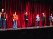 Amy and the Orphans' Josh McDermitt, Diane Davis, Debra Monk, Jamie Brewer, Mark Blum and Vanessa Aspillaga take their curtain call.