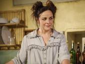 Sally Ann Triplett as Mrs. Lovett in Sweeney Todd: Demon Barber of Fleet Street.