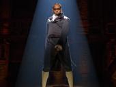 Daniel Breaker as Aaron Burr in Hamilton.