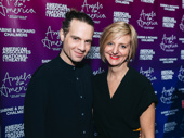 Jujamcyn Theatres president Jordan Roth and Angels in America director Marianne Elliott smile for the camera.