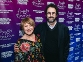 Angels in America playwright Tony Kushner poses with star Susan Brown.