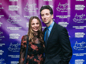 Ben Shenkman, who played Louis in the Angels in America HBO mini-series adaptation, arrives with his wife Lauren Greilsheimer Shenkman.