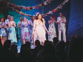 Escape to Margaritaville's Alison Luff takes her opening night curtain call.