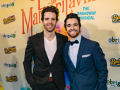 Bandstand bros Joe Carroll and Corey Cott reunite at the Escape to Margaritaville opening.