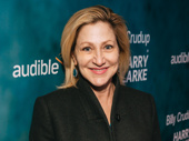 Stage and screen star Edie Falco attends opening night of Harry Clarke.