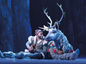 Jelani Alladin as Kristoff and Andrew Pirozzi as Sven in Frozen.