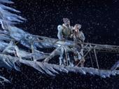 Jelani Alladin as Kristoff and Patti Murin as Anna in Frozen.