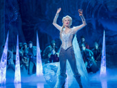 Caissie Levy as Elsa in Frozen.