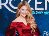 Frozen's Caissie Levy rocks a radiant red on opening night.