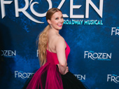 Frozen star Patti Murin works it for the camera.