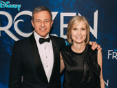 Disney CEO Bob Iger joins his wife,  journalist Willow Bay, on the red carpet.