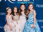 Young Anna and Elsa: Audrey Bennett, Mattea Conforti, Brooklyn Nelson and Ayla Schwartz look like princesses on the red carpet.