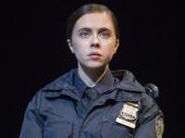 Bel Powley as Dawn in Lobby Hero.