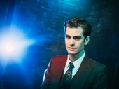 Angels in America star Andrew Garfield photographed by Caitlin McNaney at the show's opening night.