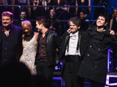 Rob Evan, Kimberly Nicole, Pat Monahan, Randall Craig Fleischer and Alyson Cambridge take in the view from the stage at the Broadway Theater.