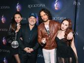Yoka Wao, Frank Wildhorn, Constantine Maroulis and Robyn Adele Anderson celebrate their Rocktopian friends.
