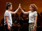 Gizel Jiménez as Olivia and Daphne Rubin-Vega as Beatriz in Miss You Like Hell.
