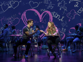 Kyle Selig as Aaron Samuels and Erika Henningsen as Cady in Mean Girls.