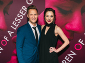 Laura Osnes and Nathan Johnson pose for the camera.