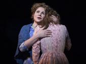 Renée Fleming as Nettie Fowler and Jessie Mueller as Julie Jordan in Carousel.