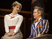 Sara Topham as Cecily and Tom Hollander as Henry Carr in Travesties.