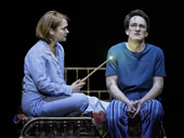 Poppy Miller as Ginny Weasley and Jamie Parker as Harry Potter in Harry Potter and the Cursed Child.