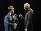 Jamie Parker as Harry Potter and Alex Price as Draco Malfoy in Harry Potter and the Cursed Child.