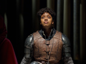 Condola Rashad as Joan in Saint Joan.