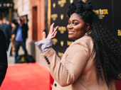 Tony nominee Danielle Brooks waves to the crowd.