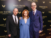 The real Golden Trio! Harry Potter and the Cursed Child director John Tiffany and scribes J.K. Rowling and Jack Thorne get together.