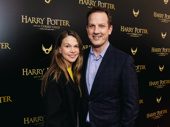 Two-time Tony winner Sutton Foster and her husband Ted Griffin spend the day at Harry Potter and the Cursed Child.