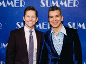 Summer choreographer Sergio Trujillo and his husband Jack Noseworthy celebrate opening night.