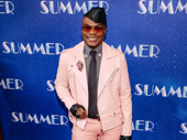 Broadway's Nathan Lee Graham works it for opening night of Summer: The Donna Summer Musical.
