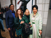George Faison joins Condola Rashad's aunt, mother and grandaughter: Debbie Allen, Phylicia Rashad and their mother, author Vivian Ayers Allen.
