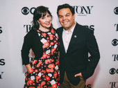Frozen songwriting couple Kristen Anderson-Lopez and Robert Lopez snap a sweet pic.