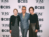 Three Tall Women Tony nominees Glenda Jackson and Laurie Metcalf hug it out with director Joe Mantello.