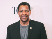 The Iceman Cometh Tony nominee Denzel Washington flashes a smile.