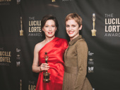Mary Jane star and Lortel Winner Carrie Coon with presenter Denise Gough.