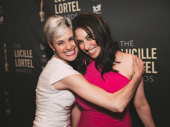 Angels in America's Beth Malone cuddles up to Lortel nominee, Who's Holiday star Lesli Margherita.