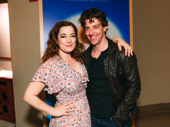 Me and My Girl stars Laura Michelle Kelly and Christian Borle snap a sweet pic on closing night.