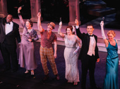 Me and My Girl's Chuck Cooper, Harriet Harris, Christian Borle, Laura Michelle Kelly, Mark Evans and Lisa O'Hare take their final curtain call.