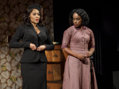 Simone Missick and Kristolyn Lloyd in Paradise Blue.