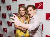 Mean Girls' Taylor Louderman and SpongeBob SquarePants star Ethan Slater snap a selfie.