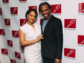 Escape to Margaritaville's Rema Webb and Andre Ward pal around at the New Dramatists' luncheon.