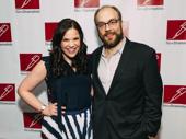 Carousel Tony nominees Lindsay Mendez and Alexander Gemignani take a photo.