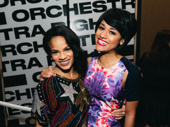 Storm Lever poses with Summer costar Ariana DeBose, who won Outstanding Female Dancer in a Broadway Show.